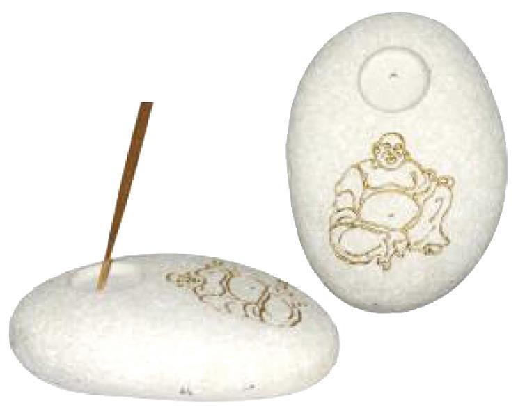 Rökelsehållare - Happy Buddha guld (12 pack)