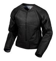 Icon Merc Womens Leather Jacket - Stealth XL