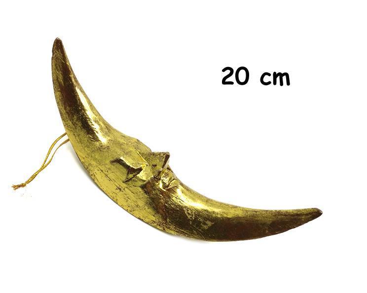 Bali - Hängande guld måne 20cm (30 pack)