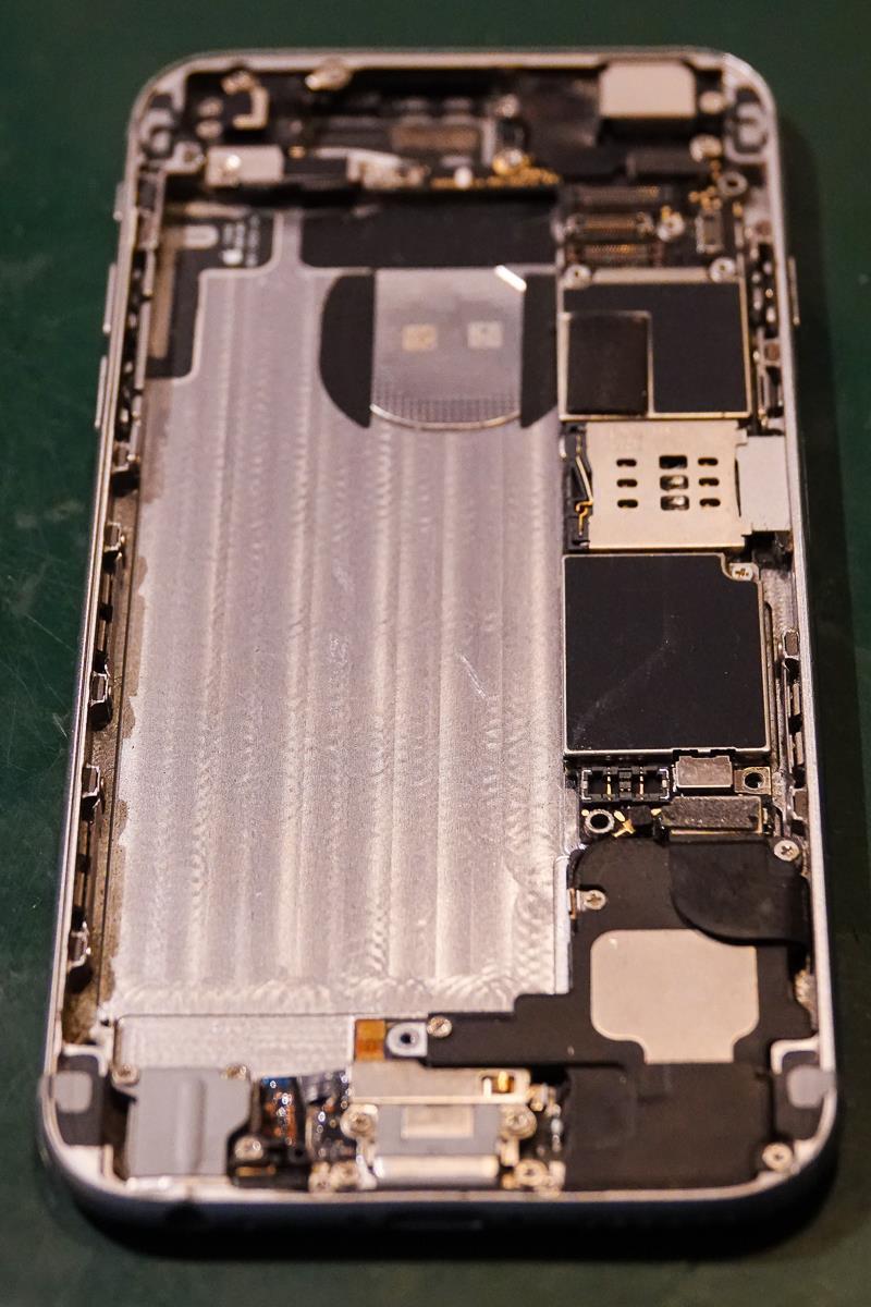 Batteri tatt ut, for å sette inn nytt