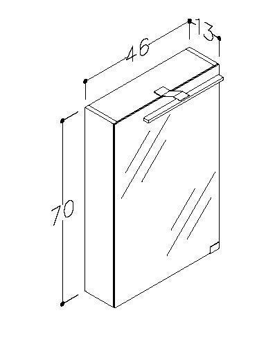 Spegelskåp Garda 46 cm