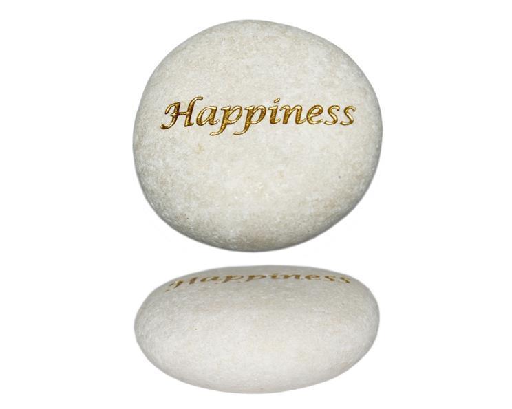 Vit sten - Happiness guld (6 pack)