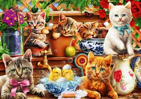Puslespill Kittens in the Potting Shed 1000 brikker