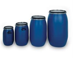 Plasttønne 30 liter rund, blå