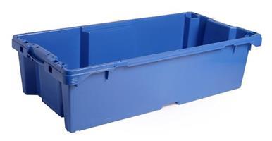 Transportkasse konisk 800x400x200mm 50 ltr blå BE