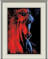 Diamond Painting, Hest i mørket 40*50cm, kvadrat FPK