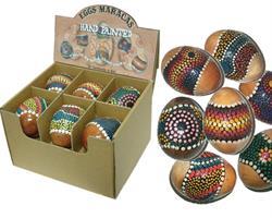 Maracas - Display med 12 målade ägg
