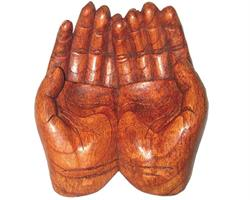 Träsnideri - Händer 15cm (4 pack)
