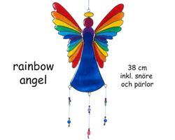 Solfångare - Ängel regnbåge 38cm (6 pack)