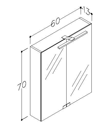 Spegelskåp Garda 60 cm