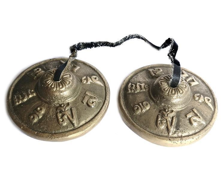 Tingshas - Sanskrit mantra (5 pack)