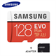Samsung MicroSDXC Evo 128GB 100MB/s + Adapter