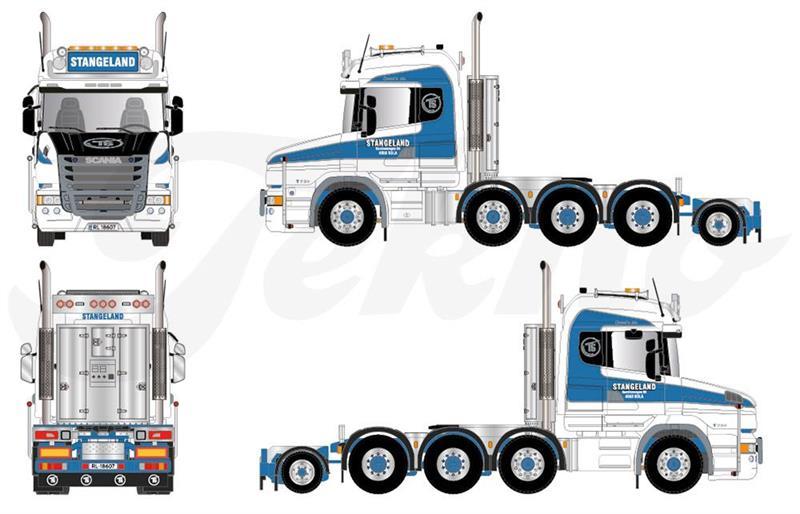 Tekno Scania T730 8(10)x4/4 Stangeland trekkbil (FB) (NY) (NO)