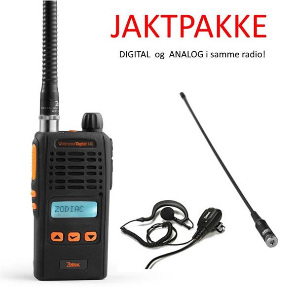 Zodiac Waterproof DIGITAL Jaktradio pakke