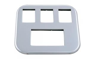 CHROME INSERT FOR 3 SWITCHES & METER GL1800