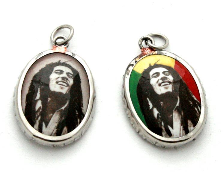 Medaljong - Bob Marley mix (6 pack)