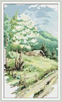 Diamond Painting, Landskap Vår 22,1*38,1cm (F0285) FPR