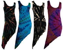Klänning - Asymmetrisk tie dye mix (5 pack)