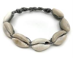 Knytarmband - Cowry grå (12 pack)