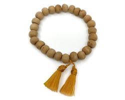 Mala - Armband trä saffran tofs (10 pack)