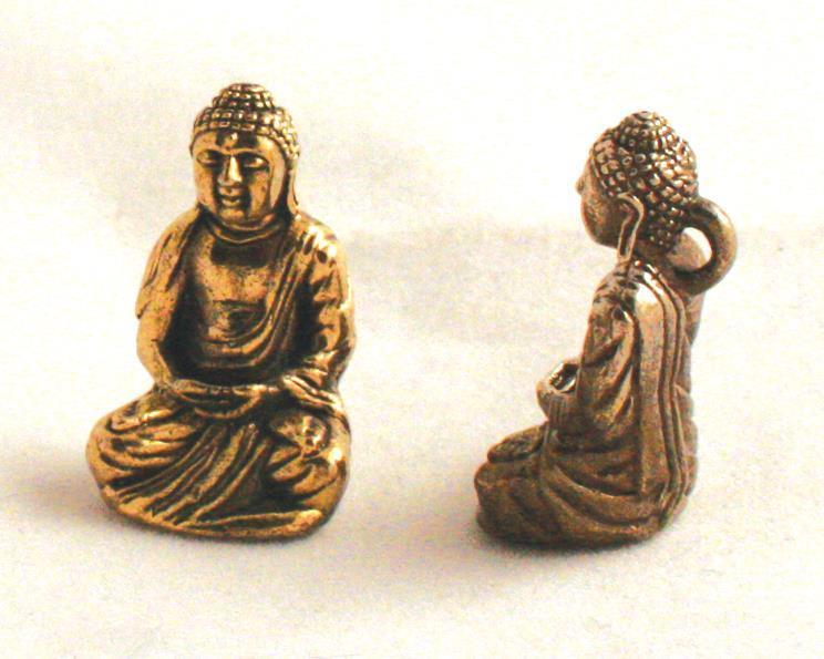 Halsband - Brons japansk Buddha (4 pack)