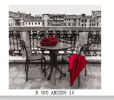 Male etter nummer, Rød paraply 40*50cm (R-055)