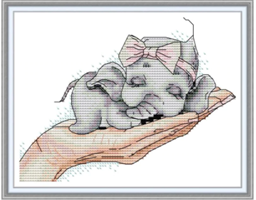 Broderi korssting, Baby i hånd 27*22cm (DA485)