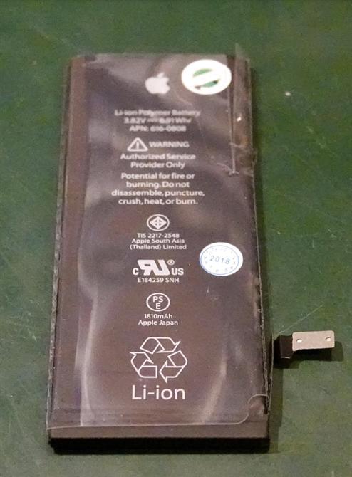 Batteriet er merket med vårt garanti klistremerke