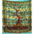 Sängöverkast - Tree of Life turkos (3 pack)