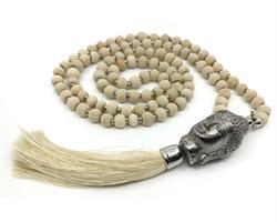 Mala - Buddha 108 pärlor cream (4 pack)