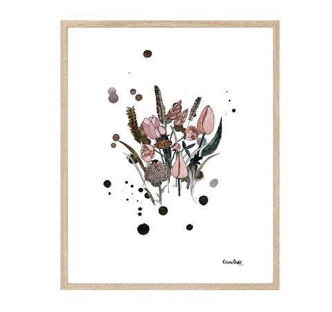 Print, blomster