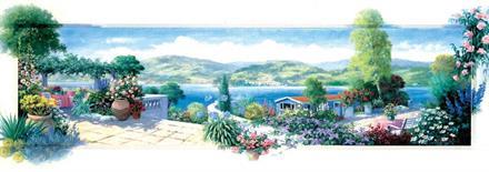 Puslespill Panorama Terrance Garden, 1000 brikker