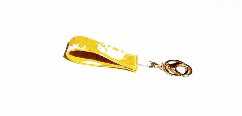 Nyckelring gul elefant