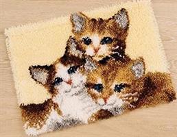 Ryeteppe, 3 Katter 60*40cm