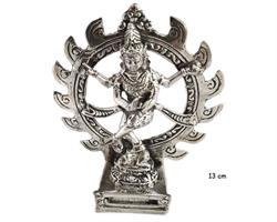 Brons - Silver Shiva Nataraja 13cm (2 pack)
