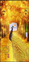 Diamond Painting, Påfugl gul 32*70cm FPR