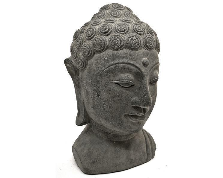 Buddha head - Grå 30cm (4 pack)