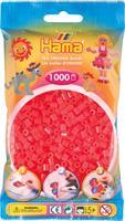 Hama perler Midi, Neon Rød 207-35 1000stk