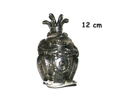 Brons - Silver frog king 12cm (6 pack)