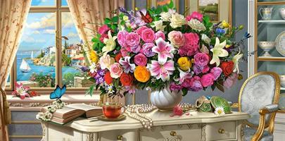 Puslespill Summer Flowers, 4000 brikker