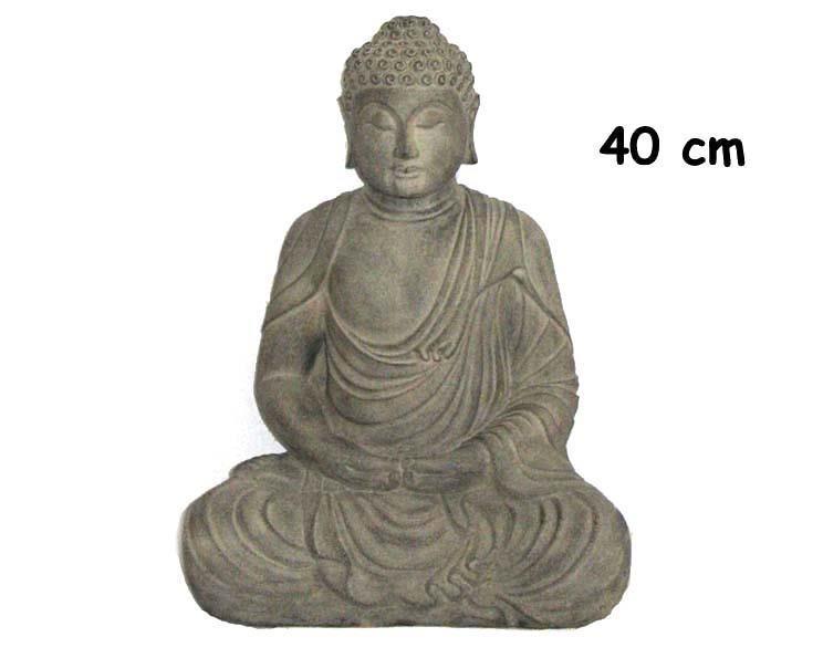 Buddha - Grå 40cm (2 pack)