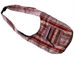 Väska - Bomull brun & röd (3 pack)