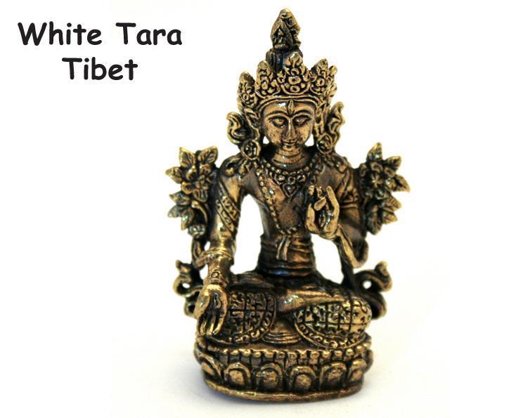 Brons - Miniatyr White Tara (2 pack)