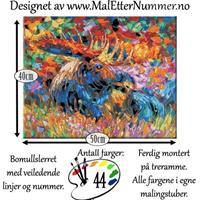 Mal etter nummer, Skogens konge 40*50cm