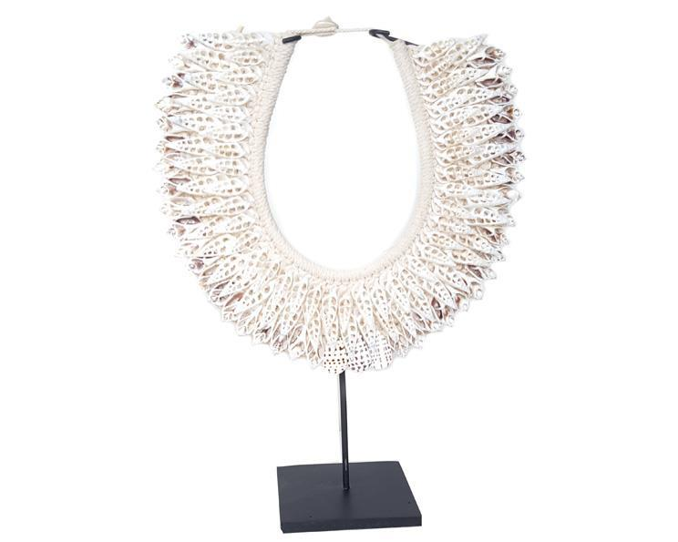 Papua - Halsband med snäckor vit (2 pack)