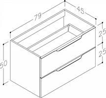 Underskåp bänk Evoke 80 cm