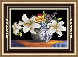 Diamond Painting, Liljer i vase 63*42cm (71315) DPR