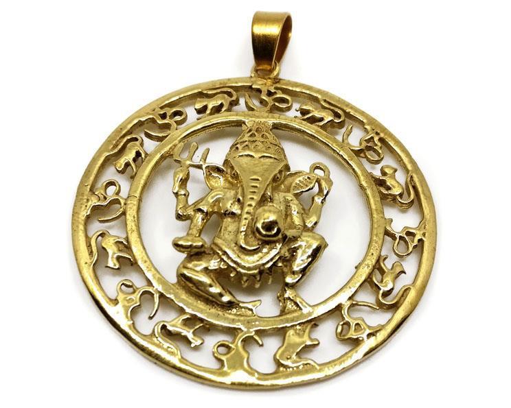 Halsband - Brons Ganesha (4 pack)
