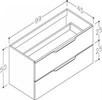 Underskåp bänk Evoke 100 cm