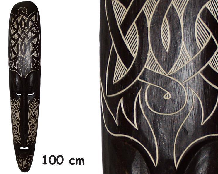 Mask - Karvad trä 100cm (3 pack)